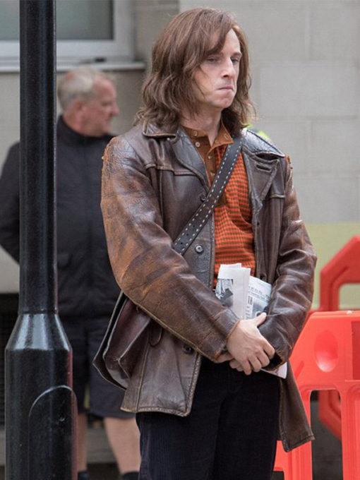 Bernie Taupin Rocketman Jamie Bell Brown Jacket