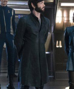 Star Trek Discovery Ethan Peck Black Coat