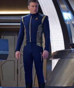 Star Trek Blue Leather Jacket