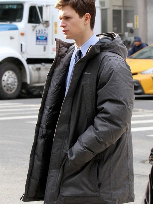 Ansel Elgort The Goldfinch Hooded Coat
