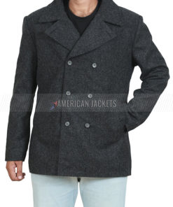 Yellowstone Ryan Bingham Grey Wool Coat