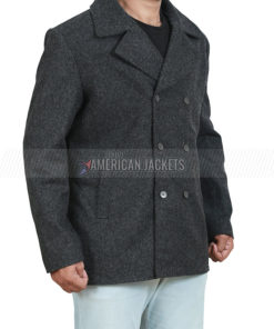 Ryan Bingham Yellowstone Walker Grey Wool Pea Coat