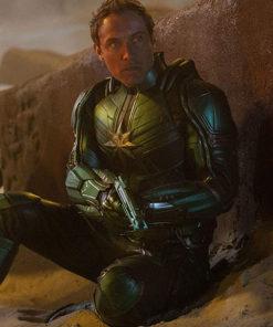 Captain Marvel Yon Rogg Leather Jacket