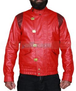Akira Kaneda Real Leather Jacket Red