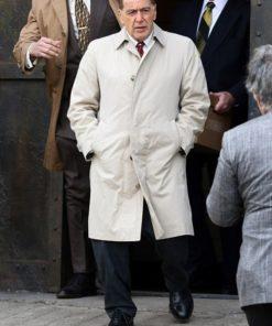Jimmy Hoffa The Irishman White Cotton Coat