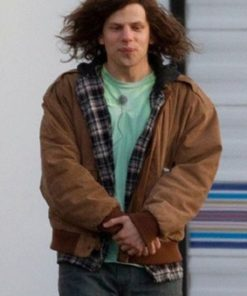 American Ultra Jesse Eisenberg Suede Leather Jacket