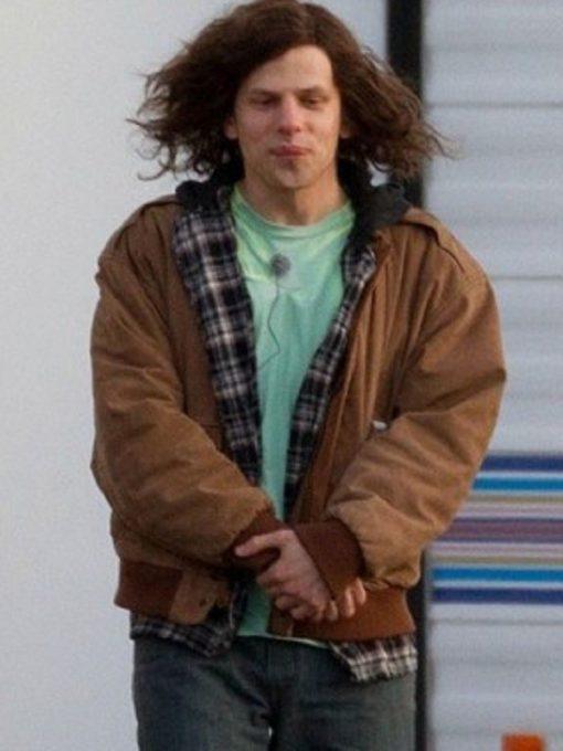 American Ultra Jesse Eisenberg Suede Leather Jacket