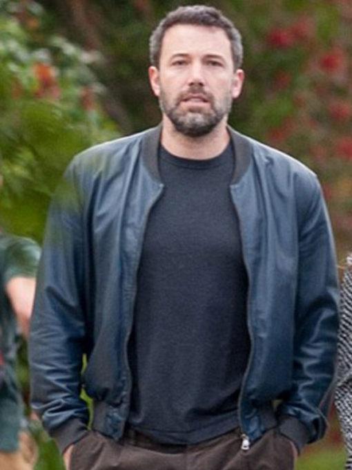 Ben Affleck Black Leather Jacket