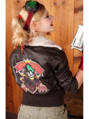 Harley Quinn Black Leather Jacket