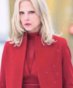 The Girl in the Spiders Web Camilla Salander Red Wool Coat