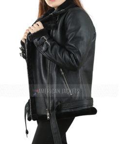 Dakota Johnson Shearling Fur Jacket