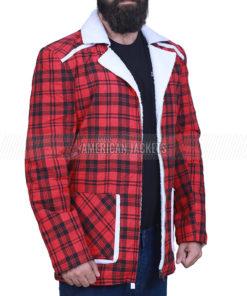 Ryan Reynolds Red Cotton Jacket
