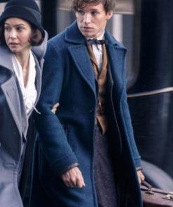 Newt Scamander Fantastic Beasts Newt Scamander Blue Wool Coat