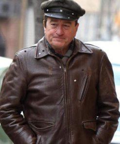 The Irishman Robert De Niro Brown Leather Jacket