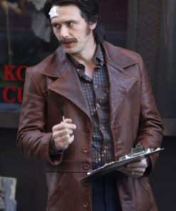 The Deuce Frankie Martino Brown Leather Jacket