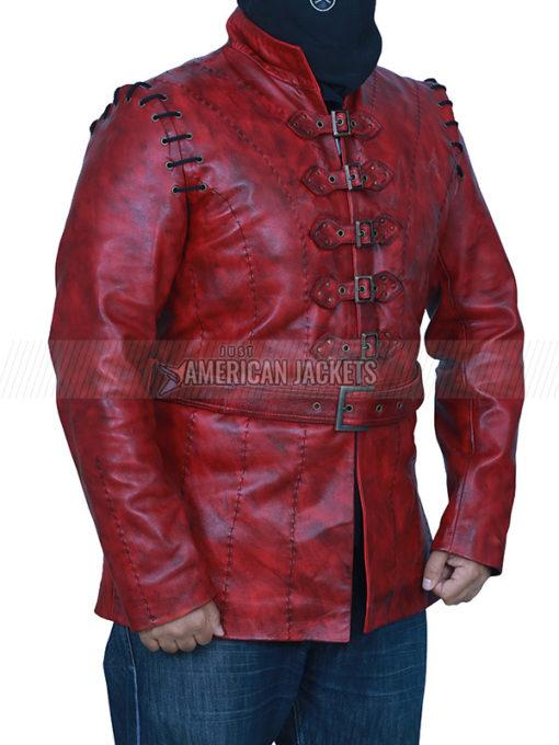 Maroon Jaime Lannister Leather Jacket