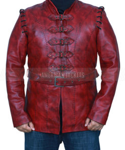 Game of Thrones Jaime Lannister Maroon Leather Jacket