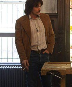 James Franco The Deuce Brown Suede Leather Blazer