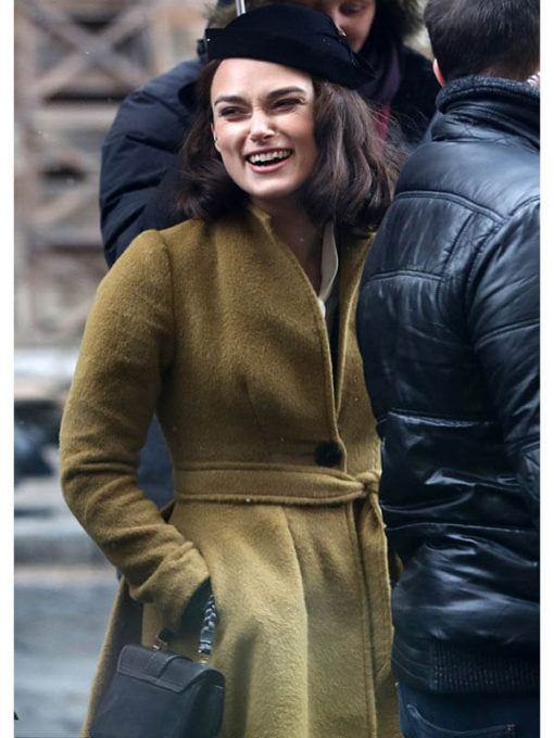Keira Knightley The Aftermath Brown Coat