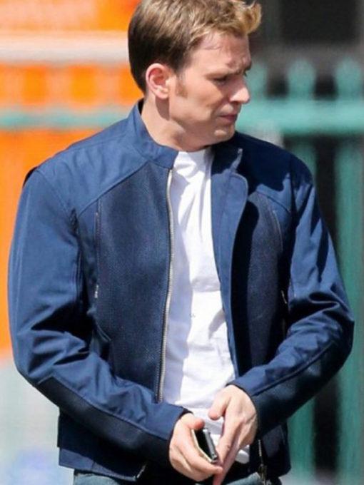 Captain America Blue Cotton Jacket