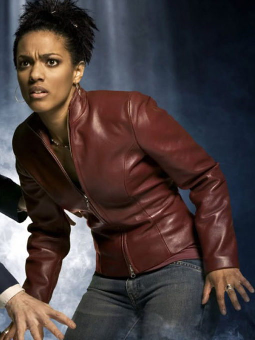Martha Jones Maroon Jacket