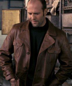 Jason Statham The bank Job Brown Leather Jacket