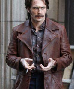 James Franco The Deuce Distressed Leather Jacket