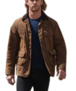 Thor Chris Hemsworth Brown Cotton Jacket
