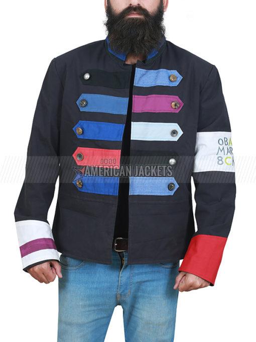 Chris Martin Multi Color Cotton Jacket