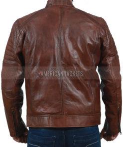 Cafe Racer Brown Jacket for Men