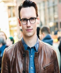 Gotham Cory Michael Smith Brown Jacket