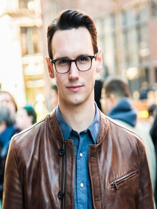 Gotham Cory Michael Smith Brown Jacket
