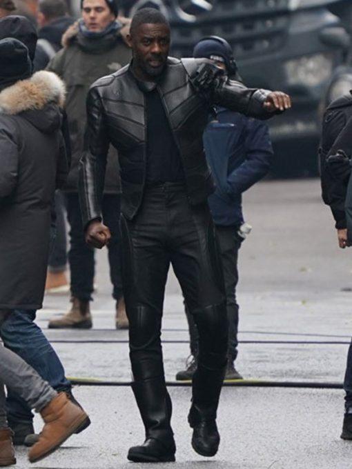 Hobbs and Shaw Idris Elba Black Jacket