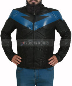 Knight Nightwing Batman Arkham Black Jacket