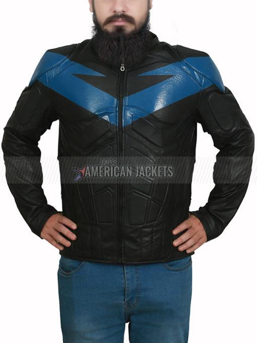 Knight Nightwing Batman Arkham Black Jacket