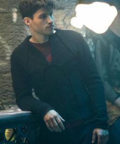 Cameron Cuffe Krypton Seg-El Black Jacket