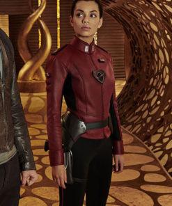 Georgina Campbell Krypton Lyta-Zod Red Jacket