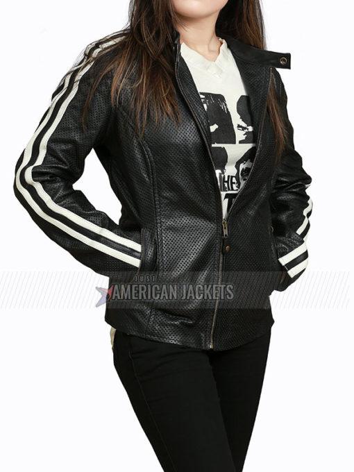 NOS4A2 Ashleigh Cummings Black Leather Jacket
