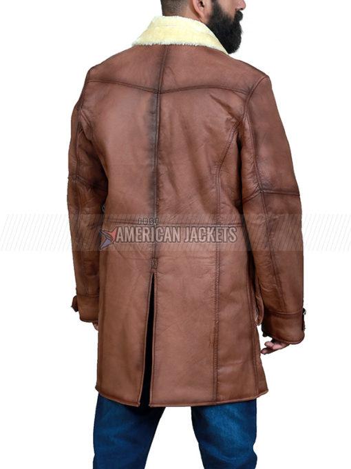 Bane Shearling Leather Coat