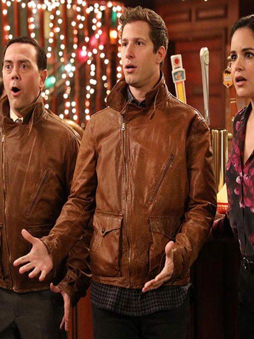 Brooklyn Nine-Nine Jake Peralta Brown Biker Jacket