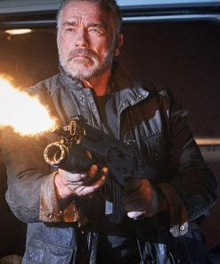 Terminator Dark Fate Arnold Schwarzenegger Geniune Leather Jacket