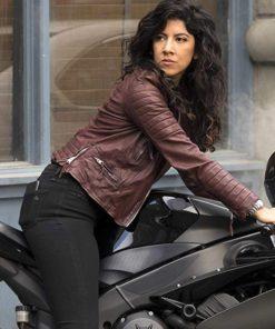 Brooklyn Nine-Nine Stephanie Beatriz Brown Biker Jacket
