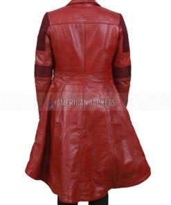 Captain America Civil War Red Leather Coat