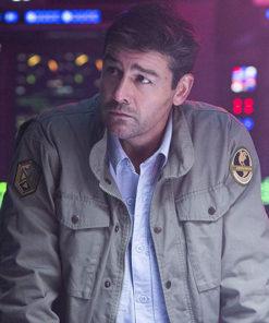 Kyle Chandler Godzilla Mark Russell Military Green Jacket