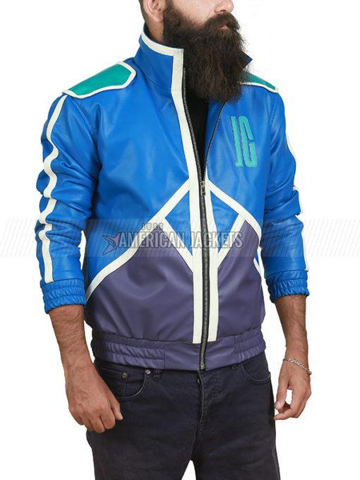 Mortal Kombat 11 Johnny Cage Blue Leather Bomber Jacket