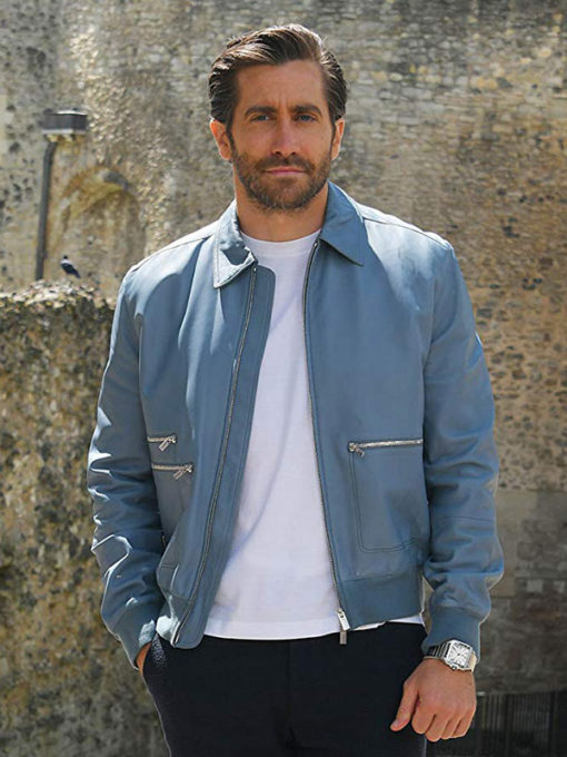 Jake Gyllenhaal Spiderman Far From Home Blue Leather Jacket