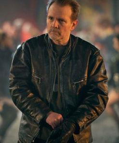 Series Curfew Michael Biehn Leather Jacket