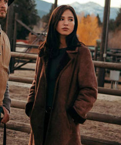 Kelsey Asbille Yellowstone Suede Coat