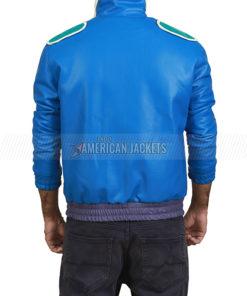 Johnny Cage mk 11 Blue Bomber Leather Jacket