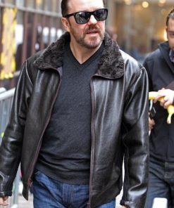 After Life Tony Johnson Leather Jacket